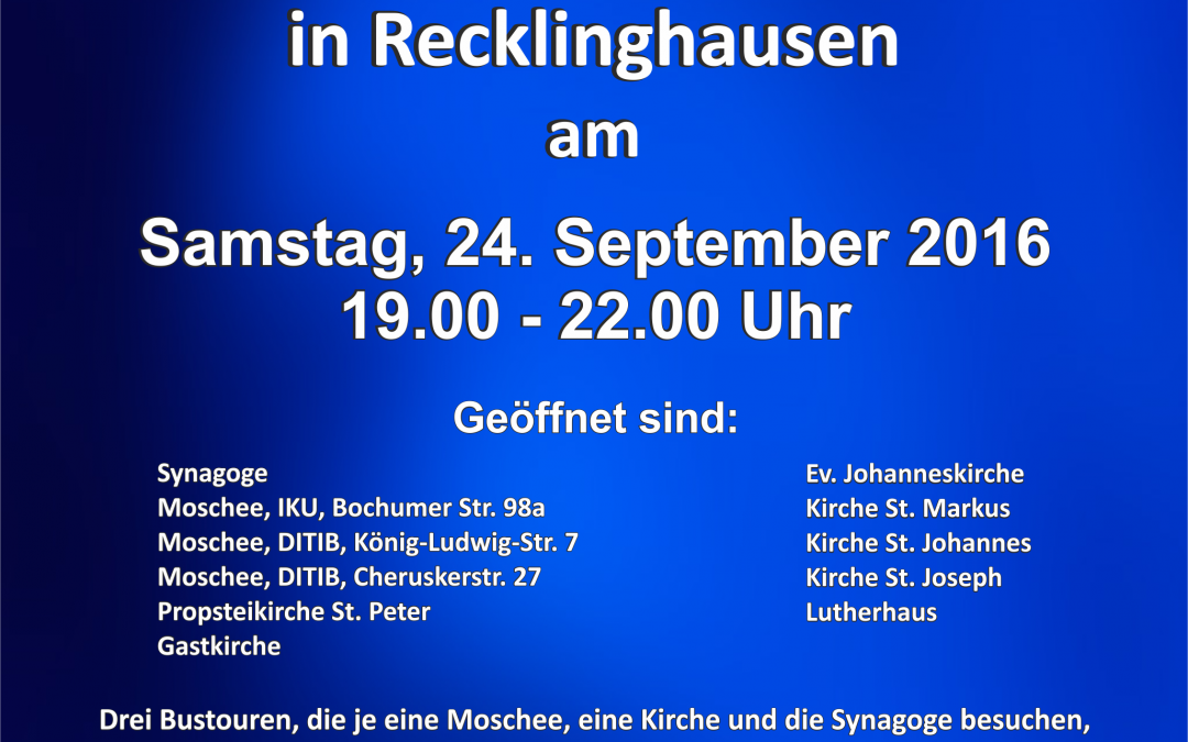 Nacht der offenen Gotteshäuser in Recklinghausen