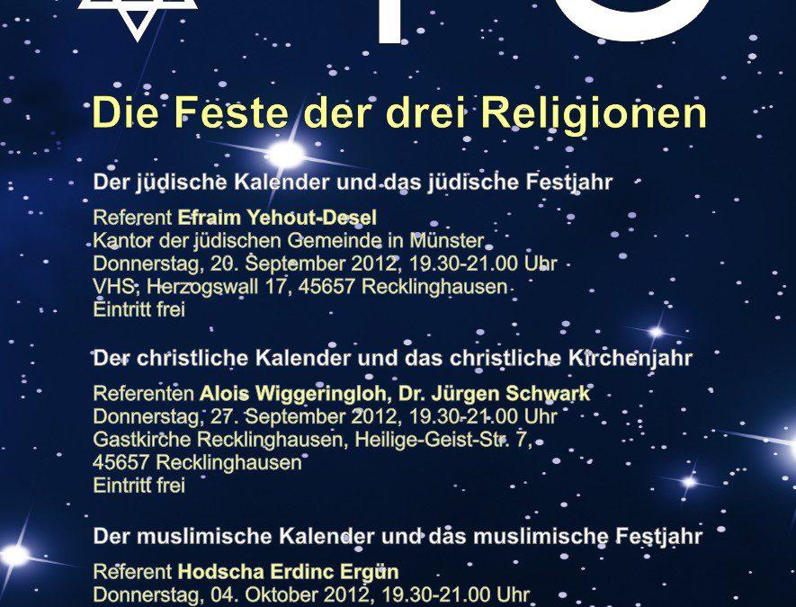 Weltreligionen im Gespräch – Die Feste der drei Religionen