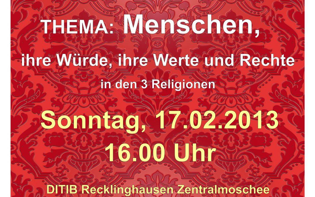 Gebete der Religionen 2013